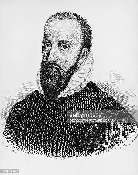 Portrait of Ambroise Pare French physician and surgeon considered the father of modern surgery engraving