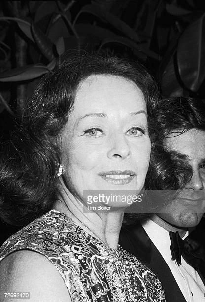 Portrait of Ameican actress Paulette Goddard at an unidentified event late 1960s or early 1970s