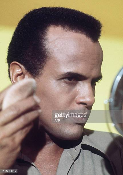 Portrait of Americain singer Harry Belafonte taken in november 1969 in Paris during the preparation of a TV show with French Nana Mouskouri Belafonte...