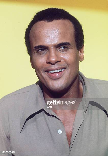 Portrait of Americain singer Harry Belafonte taken in november 1969 in Paris during the preparation of a TV show with French Nana Mouskouri...