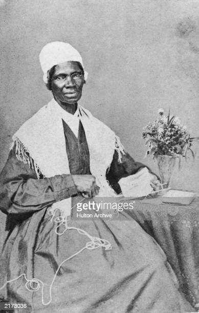 Portrait of American abolitionist and feminist Sojourner Truth a former slave who advocated emancipation c 1880
