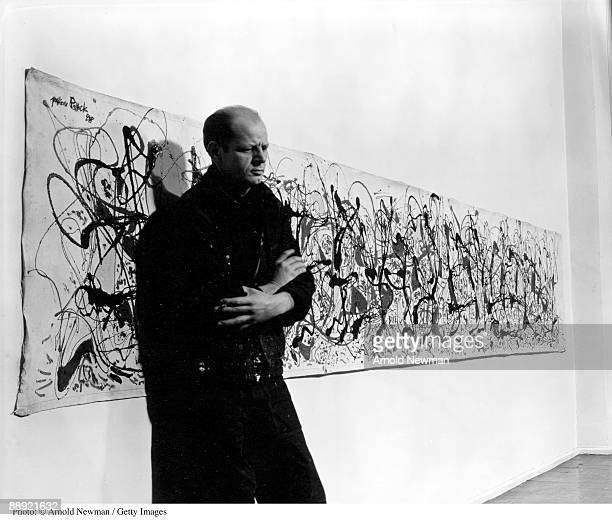 Portrait of American abstract expressionist painter Jackson Pollock in his studio East Hampton New York January 3 1949