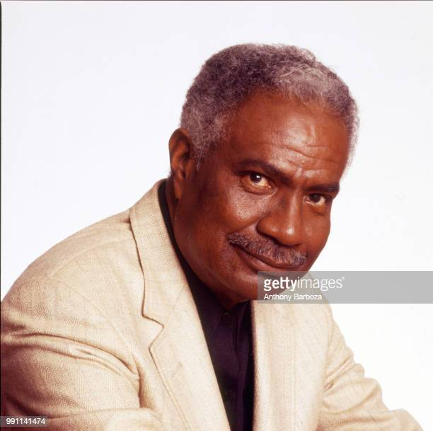 Portrait of American actor and Civil Rights activist Ossie Davis as he poses against a white background New York New York 1980s