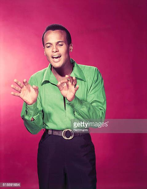 "Portrait of American actor and singer Harry Belafonte. Belafonte was known as the ""King of Calypso""."