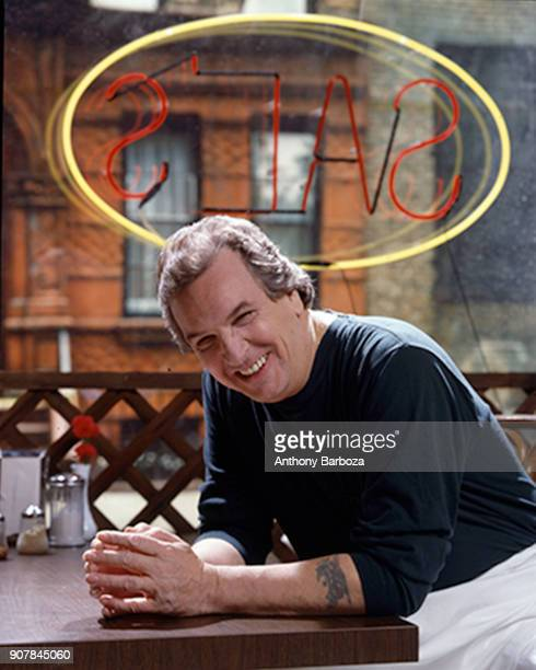Portrait of American actor Danny Aiello in costume smiles as he pose son the set of the film 'Do the Right Thing' New York 1989