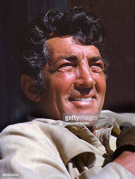 Portrait of American actor Dean Martin on the set of '5 Card Stud' Durango Mexico 1968