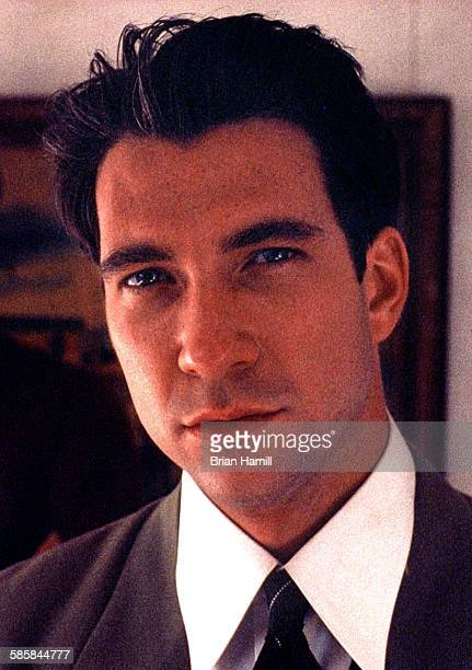 Portrait of American actor Dylan McDermott on the set of the madefortelevision film 'The Neon Empire' Los Angeles California 1990