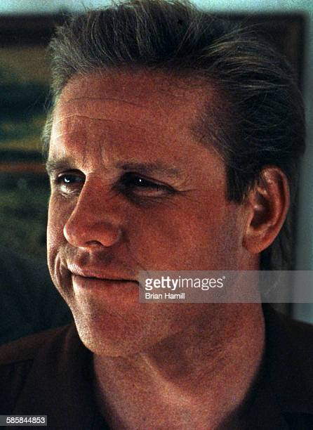 Portrait of American actor Gary Busey on the set of the madefortelevision film 'The Neon Empire' Los Angeles California 1990