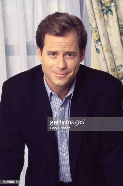 Portrait of American actor Greg Kinnear at the Essex House, New York, New York, November 20, 1995. He was there during a press junket for his film...