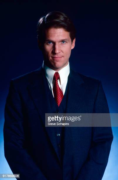 Portrait of American actor Jeff Bridges in a threepiece suit Los Angeles California 1982