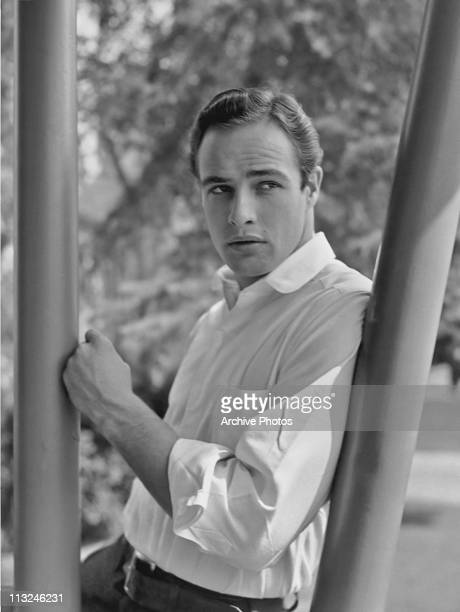 Portrait of American actor Marlon Brando circa 1952