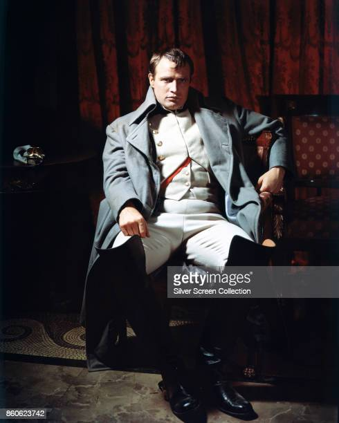 Portrait of American actor Marlon Brando in cotume for the film 'Desiree' California 1954