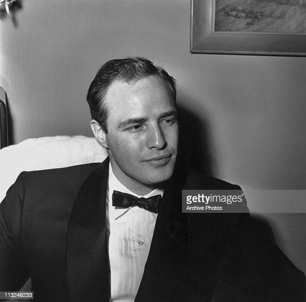 Portrait of American actor Marlon Brando in the 1950's