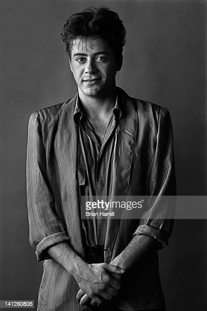 Portrait of American actor Robert Downey Jr New York New York 1986