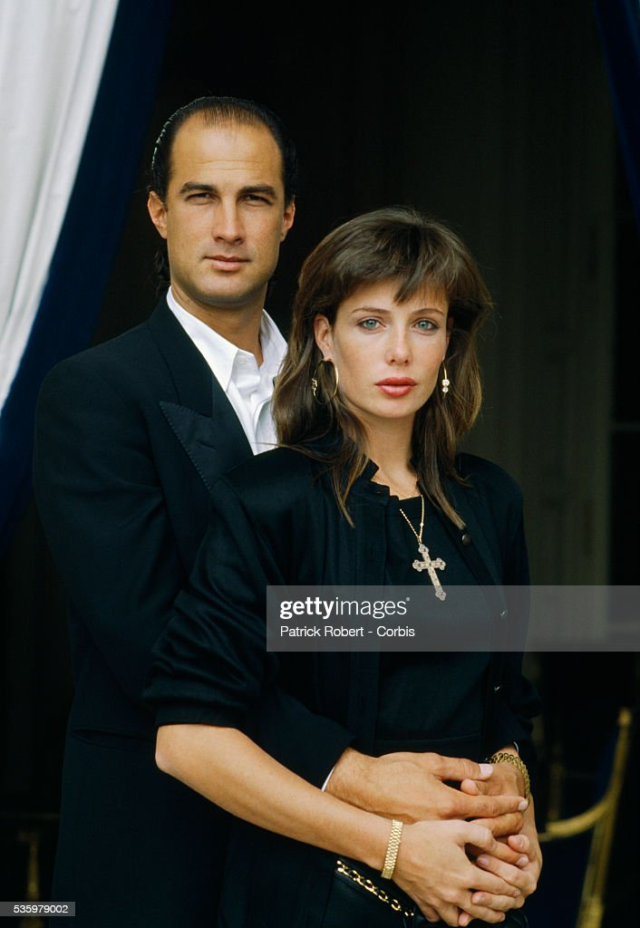 Portrait of American actor Steven Seagal and his wife actress and model Kelly Le Brock in 1988.