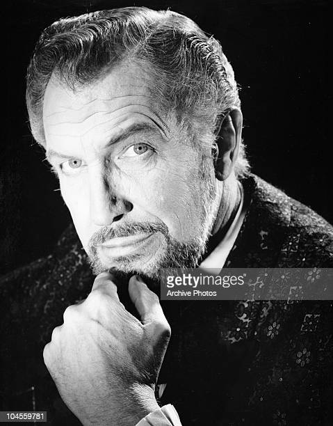 Portrait of American actor Vincent Price circa 1950s