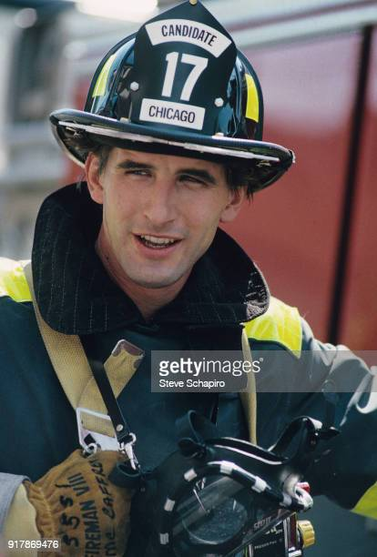 Portrait of American actor William Baldwin on the set of the film 'Backdraft' Los Angeles California 1990