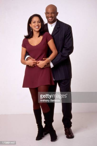 Portrait of American actors Karyn Parsons and Damon Wayans New York New York 1990s The pair appeared together in the film 'Major Payne'