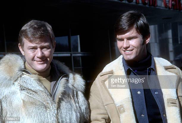 Portrait of American actors Martin Milner and Kent McCord New York February 1973