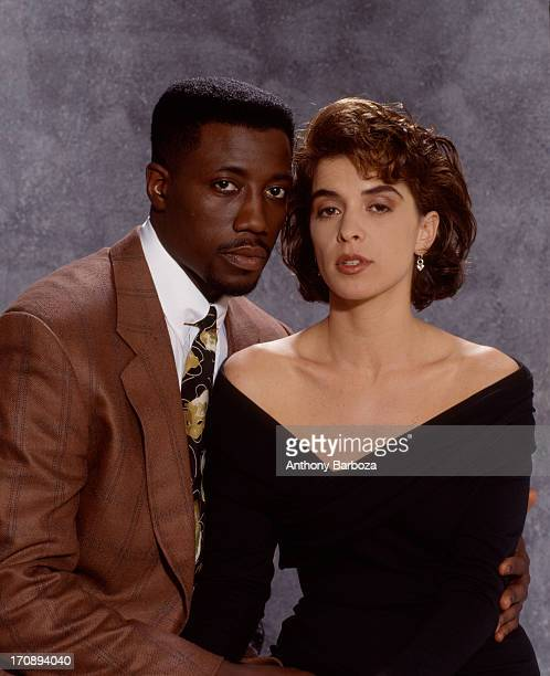 Portrait of American actors Wesley Snipes and Annabella Sciorra from the film 'Jungle Fever' New York New York 1991