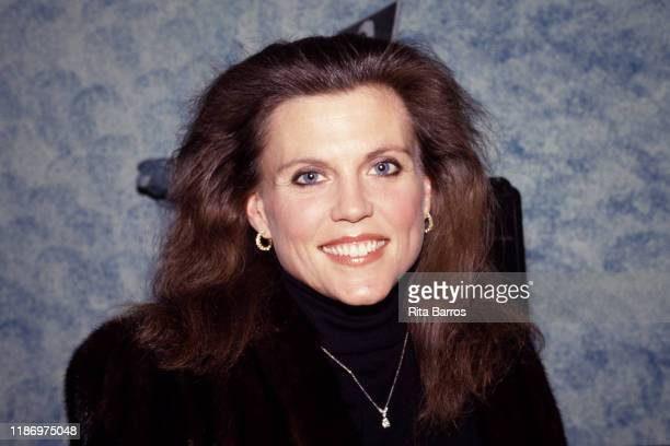 Portrait of American actress and dancer Ann Reinking as she attends Peter Allen's birthday party New York New York February 12 1988