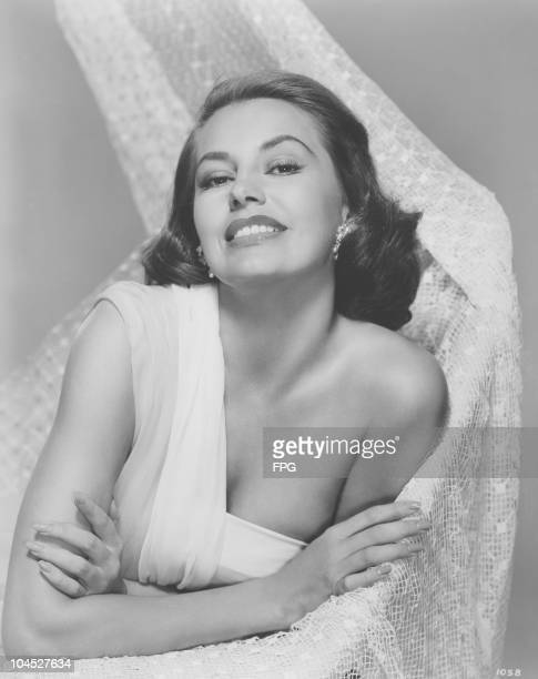 A portrait of American actress and dancer Cyd Charisse circa 1940s