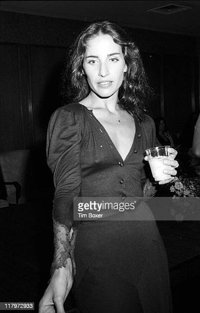 Portrait of American actress and singer Andrea Marcovicci as she attends a screening of her film 'The Front' New York New York September 1976