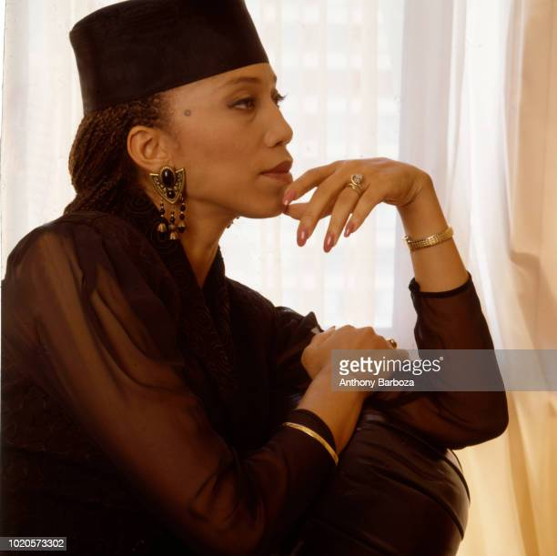 Portrait of American actress author and activist Attallah Shabazz New York 1990s She is the daughter of minister and Civil Rights activist Malcolm X