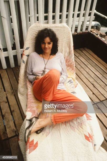 Portrait of American actress Brooke Adams as she poses at home New York New York 1987