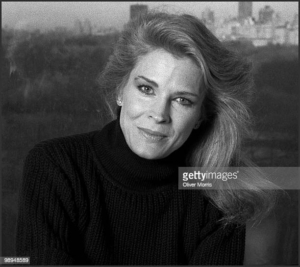 Portrait of American actress Candice Bergen as she poses in front of a window that overlooks Central Park New YorkNew York mid 1980s
