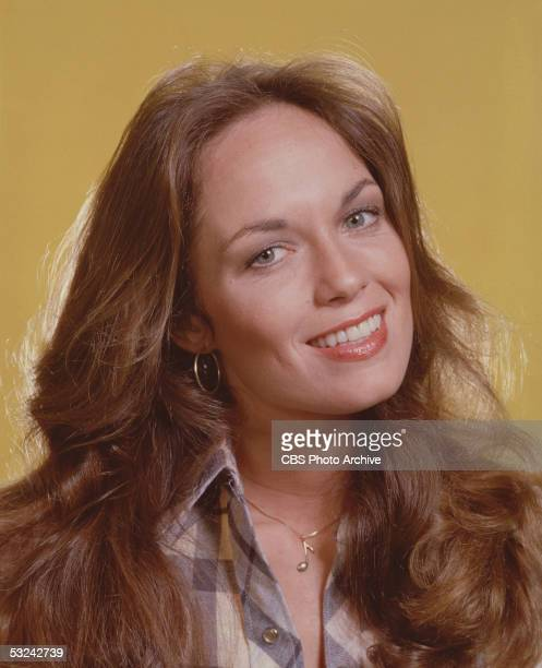 Portrait of American actress Catherine Bach as Daisy Duke in the television series 'The Dukes of Hazzard' 1980