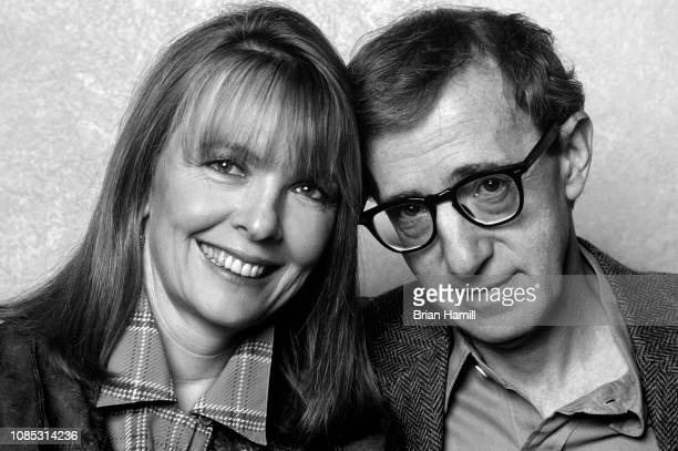 Portrait of American actress Diane Keaton and director Woody Allen New York 1990s