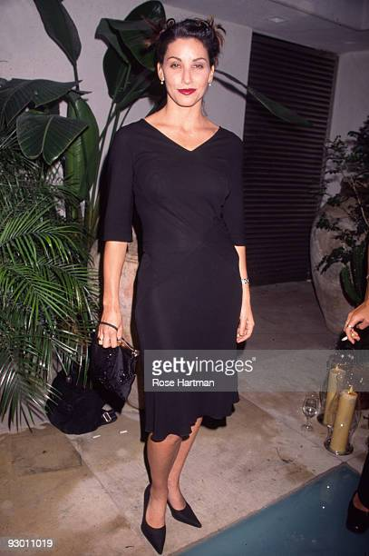 Portrait of American actress Gina Gershon as she attends an unspecified event New York New York late 1990s