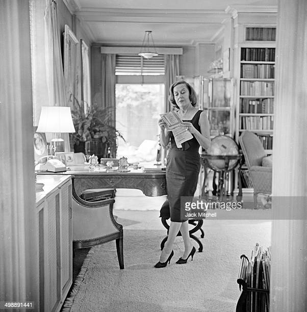 Portrait of American actress Gloria Swanson at home New York New York 1961