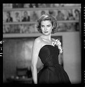 Portrait of american actress grace kelly in a strapless gown with a picture id75876421?s=170x170