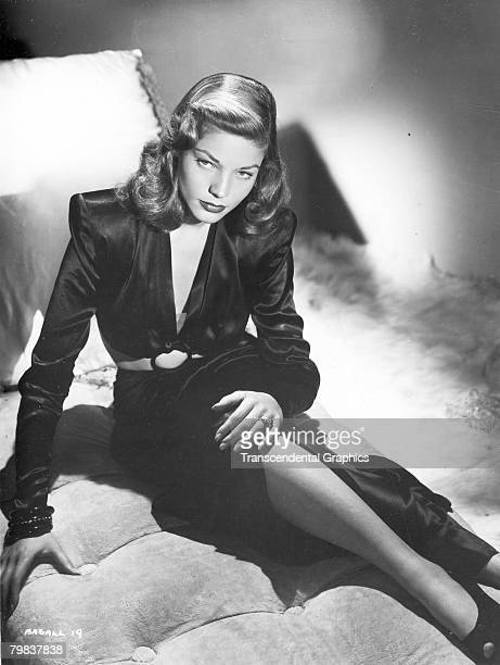 Portrait of American actress Lauren Bacall early 1940s She was 19 years old at the time of the photographs