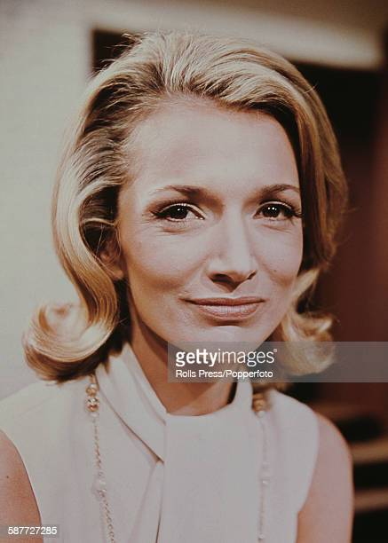 Portrait of American actress Lee Radziwill younger sister of former First Lady Jackie Kennedy posed on the set of the film 'Laura' in 1968
