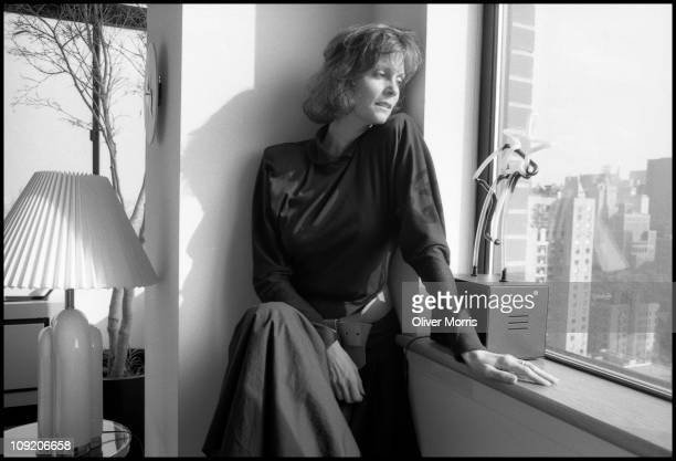 Portrait of American actress Lesley Ann Warren as she poses in her home New York New York mid 1980s