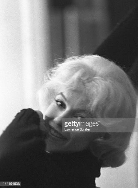 Portrait of American actress Marilyn Monroe in her dressing room during the filming of 'Let's Make Love' Los Angeles California April 1960 The photo...