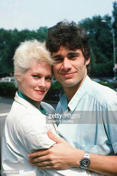 Portrait of American actress Melanie Griffith and her husband CubanAmerican fellow actor Steven Bauer New York New York 1984