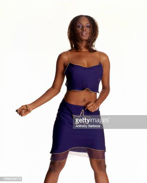 Portrait of American actress N'Bushe Wright as she pose against a white background New York New York 1990s