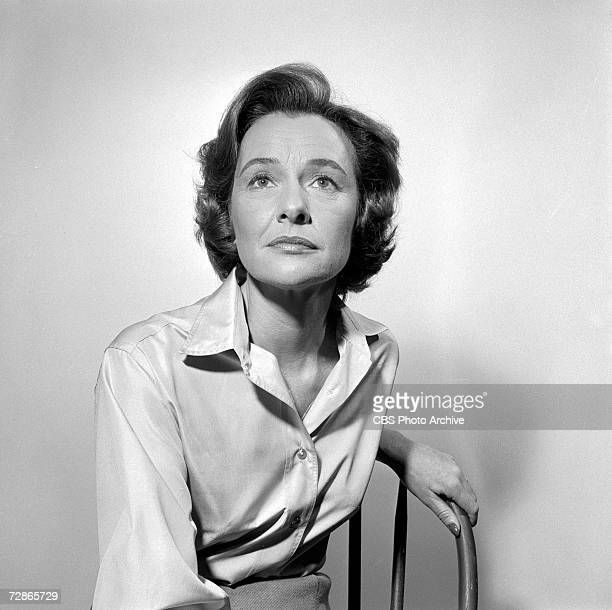 Portrait of American actress Phyllis Thaxter during rehearsals for the CBS television Playhouse 90 production of 'The Cruel Day' February 8 1960