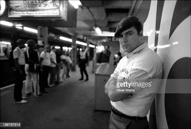 Portrait of American anticrime activist and founder of the Guardian Angels Curtis Sliwa as he poses at the 161st Street subway station New York New...