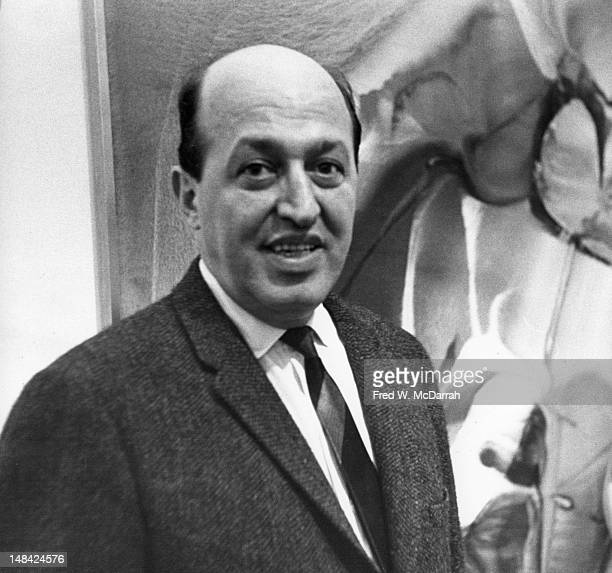 Portrait of American art critic Clement Greenberg as he attends an unidentified event New York New York late 1950s or early 1960s
