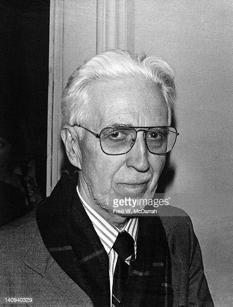 Portrait of American artist and abstract expressionist Clyfford Still at the American Academy of Arts and Letters New York New York May 19 1978