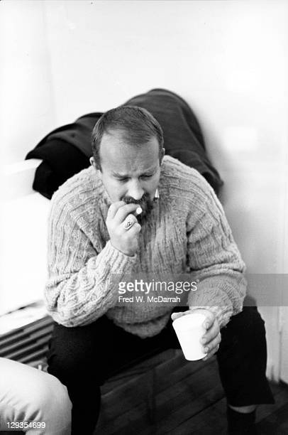 Portrait of American artist Edward Kienholz as he attends the opening of the Park Place Gallery New York New York November 21 1965