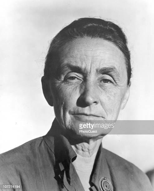 Portrait of American artist Georgia O'Keeffe June 1950