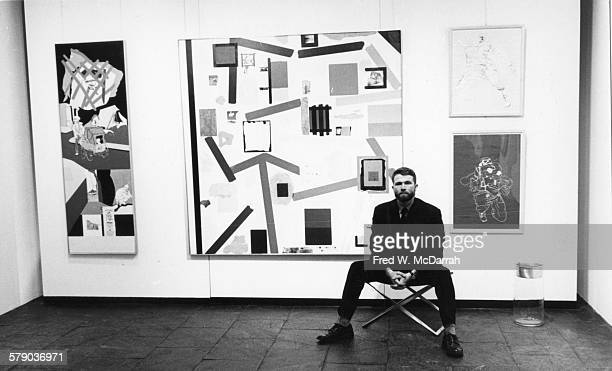 Portrait of American artist RB Kitaj as he poses in the MarlboroughGerson Gallery during an exhibition of his work New York New York February 3 1965