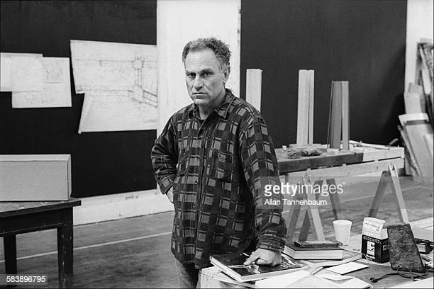 Portrait of American artist Richard Serra in his studio on Duane Street in Tribeca New York New York May 8 1978