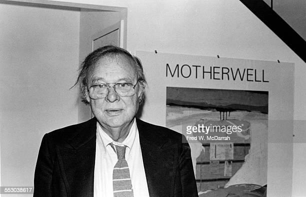 Portrait of American artist Robert Motherwell 1970s or 1980s